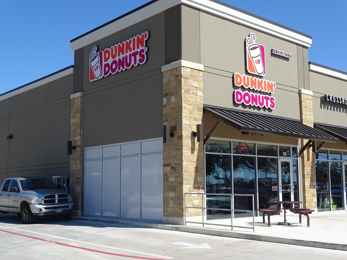 Dunkin Donuts Outdoor New Window Film
