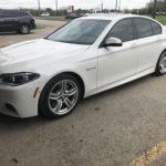 White Car Window TInt Job